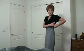 Horny Cougar Stepmother Seduces Stepson