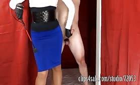 Blue Skirt Tease