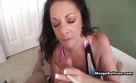 Another Cougar Margo Smoking BJ