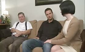 Step Mom seduces son and lets husband watch