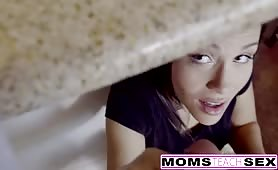 MomsTeachSex - Step Mom Caught Me With My GF And Joins