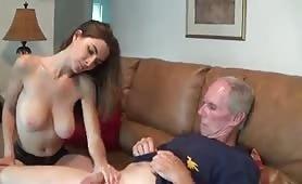 Girl helps masturbate her uncle