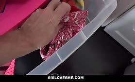 SisLovesMe - Hot Step-Sister Gets Stuck & Fucked