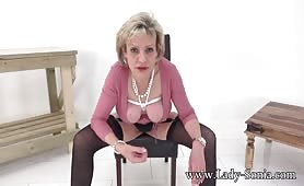 Lady Sonia - Shoot Your Cum All Over Aunt Sonias Huge Tied Tits