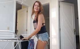 Anna Jones - Mom get Fucked by Son in Laundry
