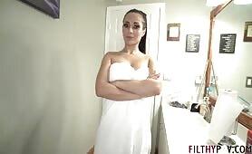 FilthyPOV - Sexy Busty MILF Crystal Rush Seduces Big Dick Son for Cum