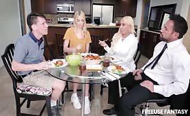 Kenna James & Kylie Kingston – Family Dinner