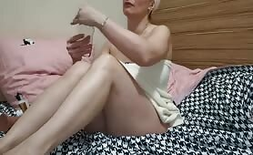 ASMR Mom Cums on you from Footjob Squirts