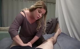 Erin Electra - Mom fucks son to cure his sprained ankle